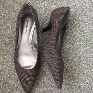 croft & barrow Shoes - Plaid kitten heels